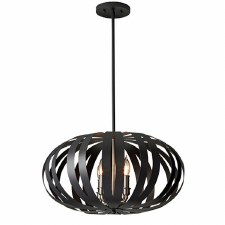 Feiss Woodstock Medium Chandelier Black
