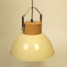 Beechwood & Cream Woody Pendant Small