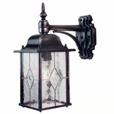 Elstead Wexford Outdoor Wall Light Lantern Black