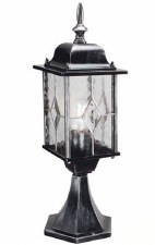 Elstead Wexford Pedestal Lantern Light Black