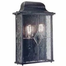 Elstead Wexford Flush Outdoor Wall Light Lantern Black