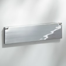Internal Letter Box Flap Polished Chrome 300mm