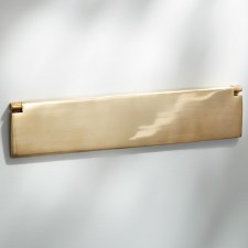 Internal Letter Box Flap Large Polished Brass 356mm