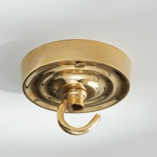 Ceiling Hook Small Polished Brass