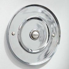 "5"" Circular Door Bell Push Polished Chrome"