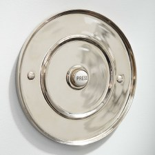 "Circular Door Bell Push 5"" Polished Nickel"