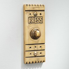 Arts & Crafts Door Bell Push Renovated Brass