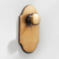 Shaped Door Bell Pull & Crank Antique Satin Brass