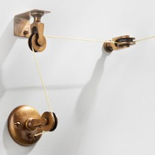 Pulley Set for Butlers Bell Antique Satin Brass