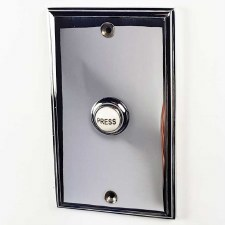 "Bell Push 5"" x 3"" Polished Chrome"