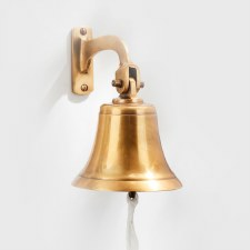 "Ships Bell 5"" Antique Satin Brass"