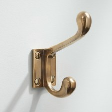 Hat & Coat Hook Classic Renovated Brass