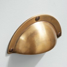 Classic Drawer Pull Antique Satin Brass