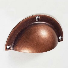 Classic Drawer Pull Distressed Antique Copper
