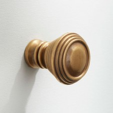 "1"" Cupboard Door Knob Antique Satin Brass"
