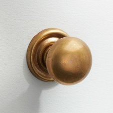 25mm Plain Cupboard Door Knob Antique Satin Brass