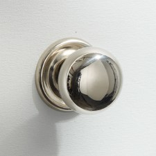 25mm Plain Cupboard Door Knob Polished Nickel