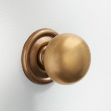 32mm Plain Cupboard Door Knob Antique Satin Brass