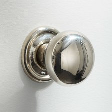 32mm Plain Cupboard Door Knobs Polished Nickel