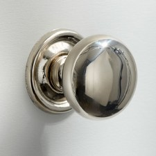 38mm Plain Cupboard Door Knob Polished Nickel