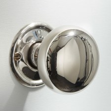 45mm Plain Cupboard Door Knob Polished Nickel