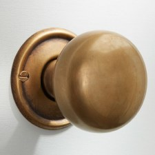 50mm Plain Cupboard Door Knob Antique Satin Brass