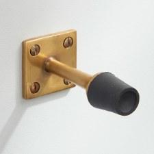 Skirting Door Stop Antique Satin Brass