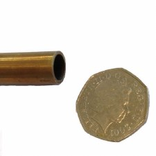 Tube For Stair Rods Antique Satin Brass