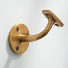 Heavy Handrail Bracket Antique Satin Brass