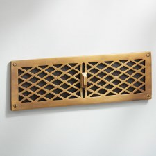 Cast Air Vent Antique Satin Brass