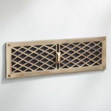 Cast Air Vent Renovated Brass