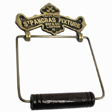 Toilet Roll Holder Antique Satin Brass