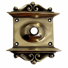"Decorative Plate with 1/2"" Hole Polished Brass"