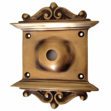 "Decorative Plate with 1/2"" Hole Antique Satin Brass"