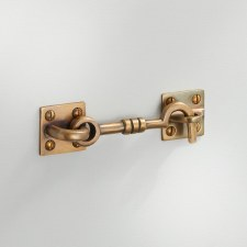 "Cabin Hook 4"" Antique Satin Brass"
