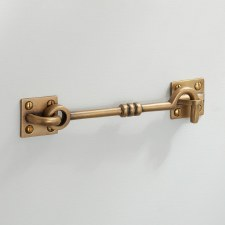 "Cabin Hook 6"" Antique Satin Brass"