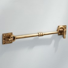 "Cabin Hook 10"" Antique Satin Brass"