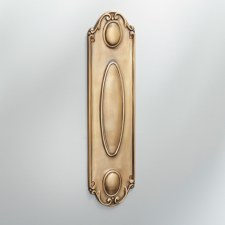 Finger Plate Scroll Antique Satin Brass