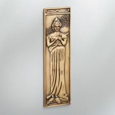 Finger Plate Princess Antique Satin Brass