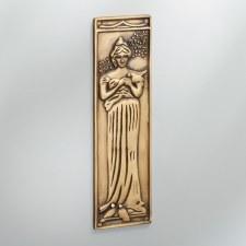 Finger Plate Princess Antique Satin Brass