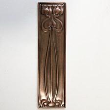 Finger Plate Flower Distressed Copper