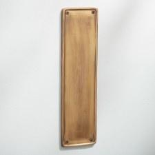 Raised Finger Plate Antique Satin Brass