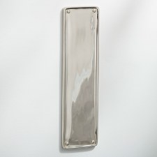 Raised Finger Plate Polished Nickel