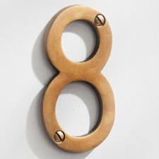 House Numbers 75mm Antique Satin Brass 8