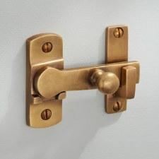 Cloakroom Door Bolt Antique Satin Brass
