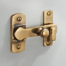 Cloakroom Door Bolt Renovated Brass