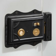 Broughton Victorian Rim Latch Black LH