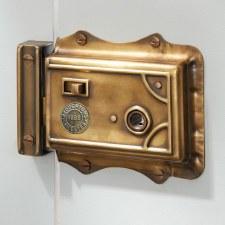 Broughton Victorian Rim Latch Antique Satin Brass RH