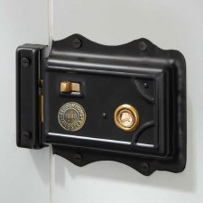 Broughton Victorian Rim Latch Black RH