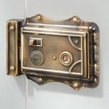 Broughton Victorian Rim Latch Renovated Brass RH